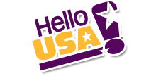 Hello USA Logo
